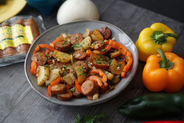 Cilantro Sausage and Potatoes