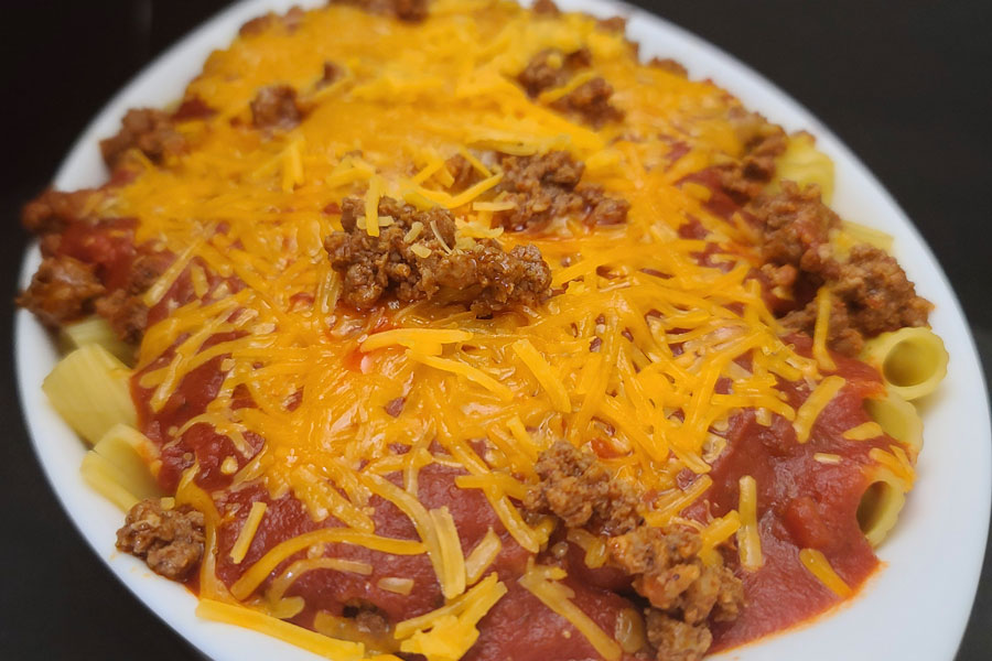Prepare a Delectable Portion of Cheesy Chorizo Rigatoni for Dinner!