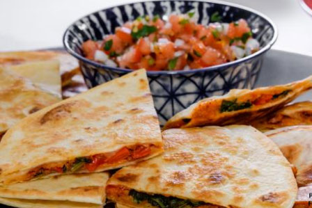 Any Time is a Good Time for Vegetable and Chorizo Quesadillas!