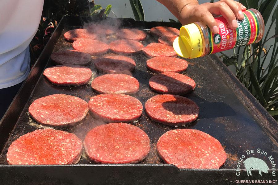 Celebrate National Hamburger Day on May 28th with Chorizo de San Manuel!