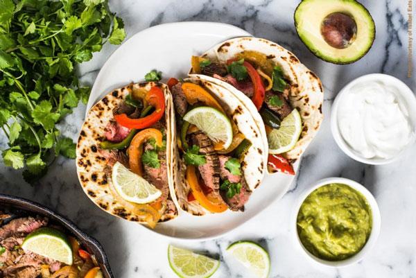 Marinated Beef Fajita Tacos