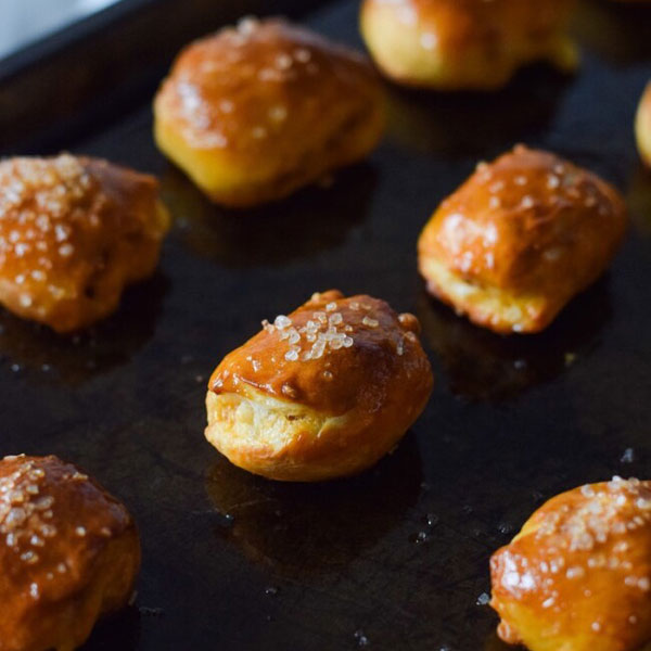 Chorizo Cotija Stuffed Pretzel Bites