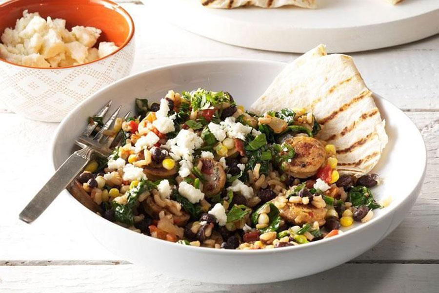 Try These Easy-To-Make Chorizo Burrito Bowls!